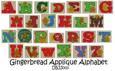 Embroidery Designs | Free Machine Embroidery Designs | JuJu Gingerbread Applique  @Designs by JuJu