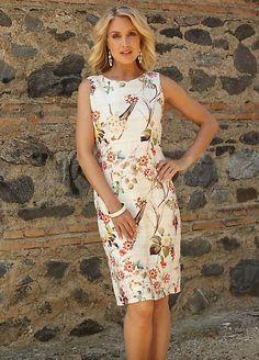 Pomodoro Floral Print Sleeveless Shift Dress