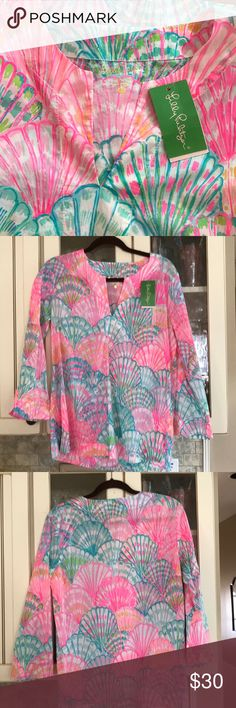Lilly Pulitzer Amelia Island Tunic Colorful and bright tunic Lilly Pulitzer Tops Tunics