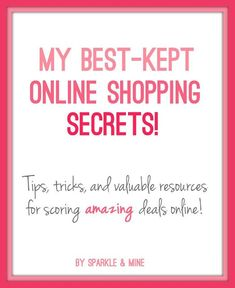 Blogger shares all her best tricks for saving money online! Thanks to this article, I saved over $40 on my order! GOOD PIN!