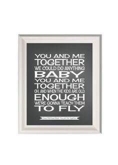 Dave Matthews Band lyricssong lyrics print by PinkMilkshakeDesigns, £10.95