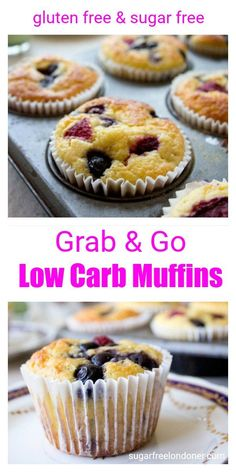 Grab & Go low carb muffins are a gluten free and sugar free breakfast choice, pe. Grab & Go low carb muffins are a gluten free and sugar free breakfast choice, perfect for busy mornings. They can be made ahead and freeze well. Sugar Free Desserts, Sugar Free Recipes, Low Carb Desserts, Diabetic Desserts Sugar Free Low Carb, Diabetic Friendly Desserts, Low Carb Cupcakes, Sugar Free Baking, Diabetic Recipes, Low Carb Recipes