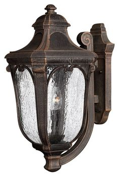 """Hinkley Lighting H1315 22"""" Height 3 Light Lantern Outdoor Wall Sconce from the T Mocha Outdoor Lighting Wall Sconces Outdoor Wall Sconces"""