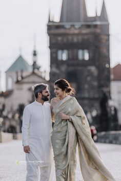 Lovely Couple with Traditional Pakistani Clothes - Charles Bridge Photoshoot Charles Bridge, Pakistani Outfits, Photo Location, Prague, Cool Photos, Photoshoot, Traditional, Couples, Clothes