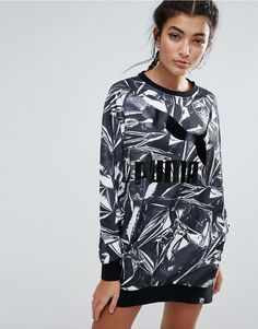 Buy it now. Puma AOP Dress Q4 - Black. Dress by Puma, Printed fabric, Crew neck, Puma logo to chest, Fitted trims, Relaxed fit, Machine wash, 58% Cotton, 42% Polyester, Our model wears a UK S/EU S/US S and is 173cm/5'8 tall. ABOUT PUMA Mixing the world of sports and lifestyle, Puma's innovative products successfully fuse the creative influences from the world of sport and fashion. Embracing contemporary design and innovative sports technology, Puma's collection of footwear and clothing keeps…