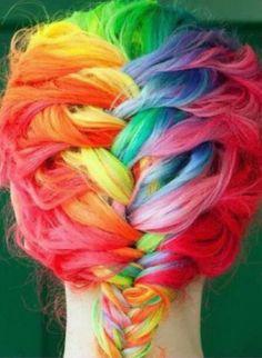 Die 82 Besten Bilder Von Bunte Haare In 2017 Farbenfrohes Haar