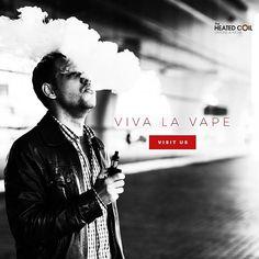 Viva La Vape at @heatedcoil512 @the_heated_coil #atxlife #atxvape #vape… #austin #graphic design #custom #unique  #rcm #rock candy media #advertising #firm