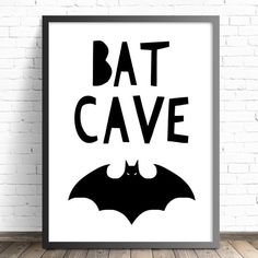 Batman Nursery Print  Boys Batcave Nursery or by TheKidsPrintStore