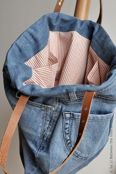 Tutorial for a tote bag made from recycled old jeans - I d love to 80e48aba3f