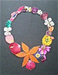 FIORI, foglie fiori sottoplastica, filo di cotone, bottone apressione
