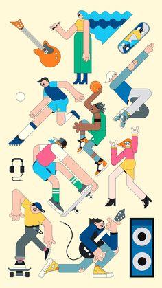 Office Routine Illustration Set on Behance Illustration Sketches, Illustrations And Posters, Character Illustration, Digital Illustration, Graphic Illustration, Character Sketches, Simple Character, Character Design, Halloween Symbols