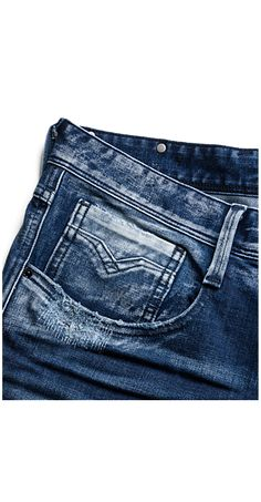 Vaqueros de corte slim Anbass Replay Jeans, Girls Jeans, Trousers, Pants, Denim Jeans, Menswear, How To Wear, Ideas, Design
