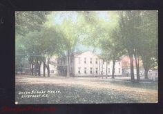 Liverpool New York Union School House Vintage Postcard HC 1911 NY | eBay