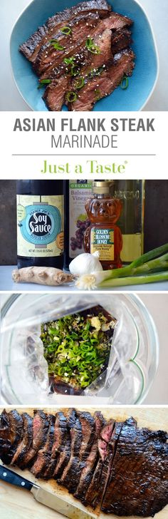 Great marinade for this flank steak! The Ultimate Asian Flank Steak Marinade #recipe on justataste.com