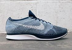 The Nike Flyknit Racer Blue Tint Is Only Days Away From Releasing Nike Clothes Mens, Nike Wear, Nike Flyknit Racer, Nike Shoes, Sneakers Nike, Nike Outfits, Workout Gear, Shoe Game, Nike Free