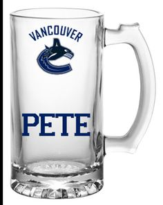 Monogrammed Vancouver Canucks mug by CountryCraftsnMore on Etsy