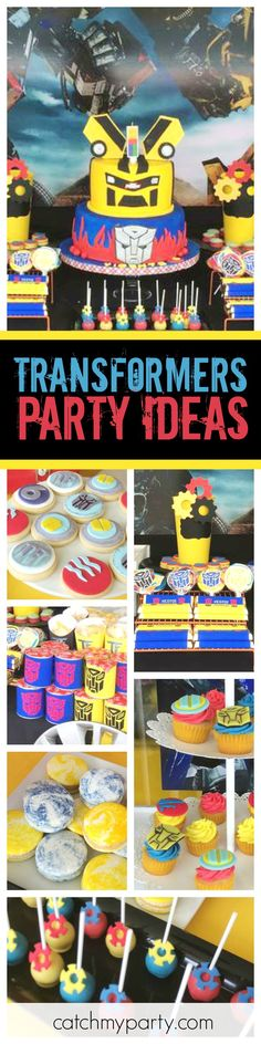 Check out this awesome Transformers Birthday Party! The birthday cake is amazing!! See more party ideas and share yours at CatchMyParty.com