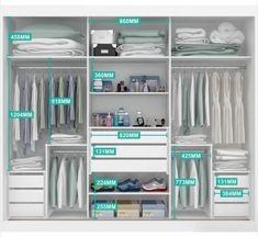 Guarda-Roupa/Roupeiro 3 portas de correr com espelho Exclusive MDF Moverama Wardrobe Design Bedroom, Master Bedroom Closet, Bedroom Wardrobe, Wardrobe Closet, Built In Wardrobe, Ikea Pax Closet, Open Wardrobe, Perfect Wardrobe, Bedroom Closets