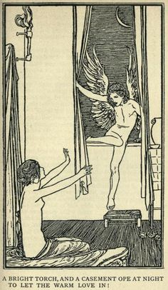 Robert Anning Bell illustration for Keat's Ode To Psyche Art And Illustration, Black And White Illustration, Pop Art, Drawn Art, Art Graphique, Art Plastique, Erotic Art, Les Oeuvres, Art Inspo