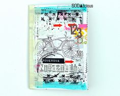 Magda Bolinska / mumkaa for Sodalicious -  tags and papers from  Journey collection and stamps #cycling #journal