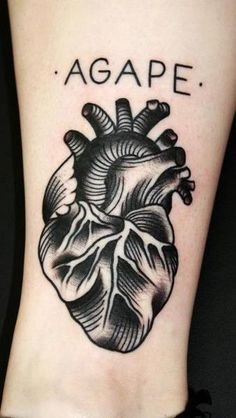 heart tattoo old school