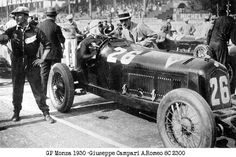 GP Italia (Monza) 1931 , Alfa Romeo 8C 2300 #26 , Driver Giuseppe Campari , winner first place , the Alfa Romeo 8C 2300 #30 of Minoia/Zehender is visible behind , (the year 1930 on picture was wrong , it is 1931 !)