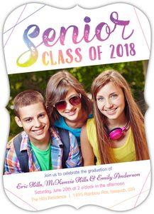 Colorful Senior Joint Graduation Invitation