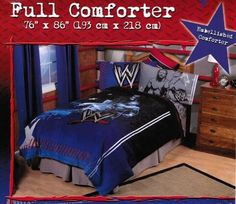 WWE Wrestling Bedding - Cool Stuff to Buy and Collect Twin Comforter, Comforter Cover, Bedding, Bed Cover Sets, Bed Covers, Unique Duvet Covers, Cool Comforters, Wwe Toys, Dreams Beds