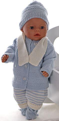 34148ee3d149 Modele de tricot pour poupee - Tricoter un bel ensemble pour poupon Tricot  Pour Baigneur,