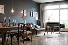 One Swedish apartment, two different ways of doing grey