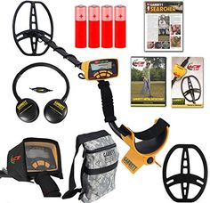 """awesome Garrett Ace 350 Metal Detector Discovery Pack with 8.5x11"""" DD Search Coil, Camo Pouch, Coil Cover, Rain Guard, Headphones"""