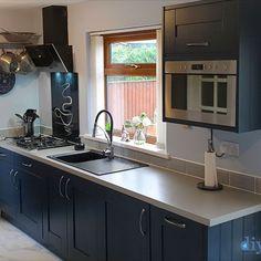 An Innova Clayton Cobham Blue Shaker Kitchen