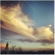 Beautiful shot of the sky over the #Baylor University campus. (via @bayloruniversity and @fmrosas on Instagram)