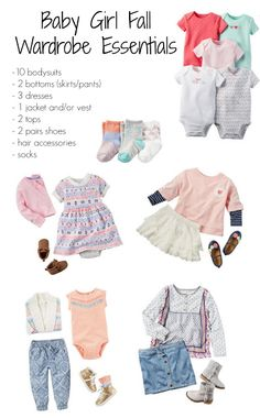 Building A Fall Wardrobe For Baby Building a Wardrobe for Baby Girl, Baby Girl Clothing Checklist, Baby Girl Clothes, Carters, Build A Wardrobe, Girls Wardrobe, Family Outfits, Cute Outfits For Kids, Carters Baby, Baby Outfits Newborn, Baby Boy Outfits, Newborn Clothes Checklist, Baby Girl Fall