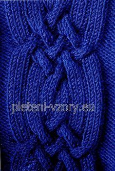 Vzor č. 85 – Kaleidoskop vzorů pro ruční pletení Stitch Design, Points, Stitches, Knitting, Stitching, Tricot, Breien, Stitch, Stricken