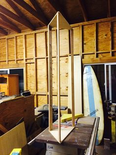Constructing SuperChunk corner bass traps.