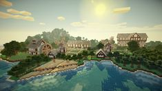 Minecraft - Farm House. Awesome render. Everyone else is better at this than I am.