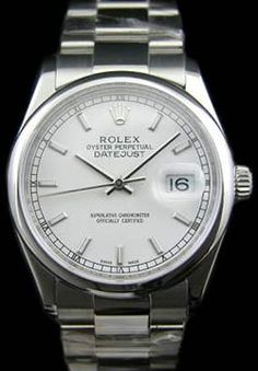 Swiss Rolex Datejust Full Stainless Steel Silver Dial Mens Watch