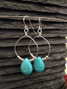Sterling Silver & Turquoise Chandelier Earrings