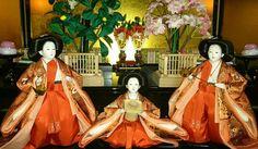 三人官女 #doll #dolls #japan #beautiful #photo #cute #lovely #photoshoot #オ雛様 #日本人形 (by non.mama.3)