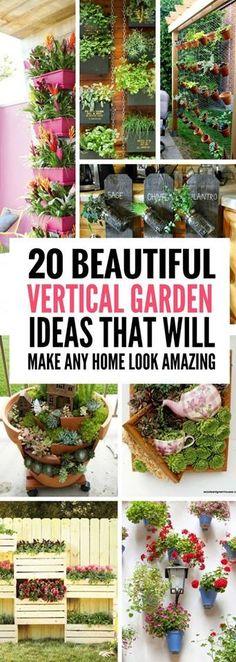 #Gardening : Vertical Flower Beds