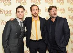 """Russell Crowe Photos - Actors Matt Bomer, Ryan Gosling and Russell Crowe attend """"The Nice Guys"""" New York Screening at Metrograph on May 12, 2016 in New York City. - 'The Nice Guys' New York Screening"""