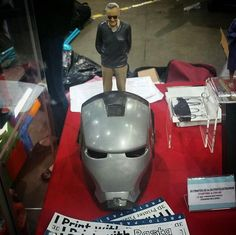Something we liked from Instagram! Thanks to @cokreeate for taking #ironman to the @stanleecomikaze - @therealstanlee looking over the #proto_pasta #warmachine #helmet  #3dprinting #3dprinter  #3dprint #3dprints #3dprinted #3dprinted #marvel #marvelcomics #avengers #comicbook #3dmodel #3d #mask #3dmodels #prop #costume #cosplay by proto_pasta check us out: http://bit.ly/1KyLetq