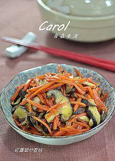 Carol 自在生活 : 紅蘿蔔炒香菇