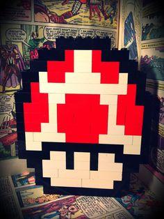 LEGO Super Mario Bros 3 Mushroom by OneStopNerdShop on Etsy, $17.00