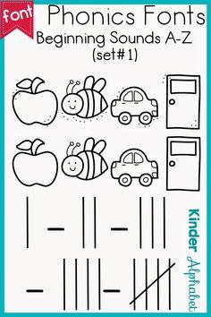 Phonics Fonts for Teachers: beginning sounds and tally marks Teacher Fonts, Tally Marks, Beginning Sounds, Literacy Centers, Get The Job, Handwriting, Teaching Resources, Kindergarten, Homeschool