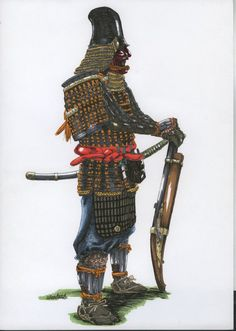 "serial ""Real Samurai Gusoku Armor"" done with pen and copic. Gusoku means a style of samurai armor established around 1500 in Japan. Some parts of the armor in the picture can be found in museums or. Real Samurai, Samurai Armor, Ninja, Japanese Warrior, Oriental, Medieval Armor, Japanese Art, Museums, Chinese Painting"