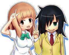 Watamote Tomoko and Yu Naruse