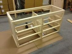 This basic dresser is made using just a table saw, Kreg jig, and skill saw. Once you build your frame, work on the inner frame for the drawer supports.