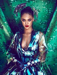 RIHANNA LOOKING SENSATIONAL IN HARPER'S BAZAAR CHINA APRIL 2015 EDITION PHOTOGRAPHED BY CHEN MAN    8      3